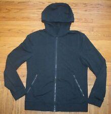 LuLuLemon Sweater Zip Up Cross Cut Hoodie Mens Medium Gray Sports Running Cycle