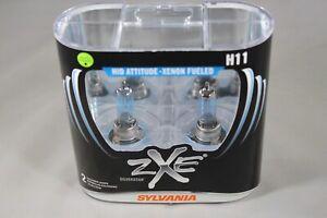 Sylvania Silverstar ZXE H11 Pair Set Headlight Bulbs Xenon Fueled #5851 NIB