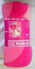 ~ Hello Kitty - BLANKET GENUINE LISENCED POLAR FLEECE THROW BED