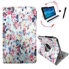 10.1 zoll Tablet Tasche - Fujitsu Stylistic Q550 Hülle - 360° Rosen Motiv