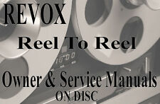 ☆ REVOX Reel To Reel Tape Recorder OWNER & SERVICE MANUAL LIBRARY DVD-Rom ☆