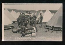 Military OTC TIDWORTH Park Camp c1900/10s? RP PPC