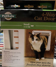 PetSafe 4 Way Locking CAT/Small Dog FLAP DOOR TUNNEL Small for 1 - 15 lb Pets