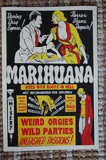 Marihuana Lobby Card Poster seems to be a kind of propaganda 30s movie poster