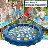 "68"" Sprinkle Splash Play Mat Inflatable Pad Children Toddlers Water Spr"