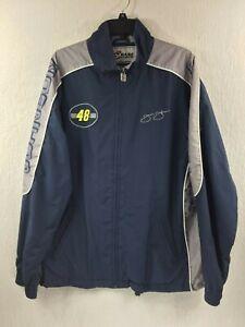 NASCAR Chase Authentics Jimmie Johnson 48 Lowe's Full Zip Nylon Jacket Men's M