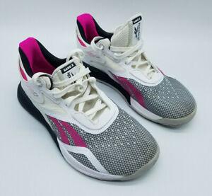 Reebok Nano X Women's Cross Trainer White/Black/Pink FV6769 Size 6.5