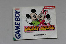 Mickey Mouse Instruction Manual Nintendo Gameboy