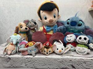 Disney Store Joblot Plush Collection Lady Tramp Stitch Hand Puppet Nightmare