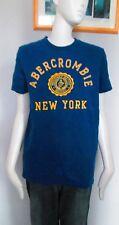 """Abercrombie & Fitch, bleu, col ras du cou, """"MUSCLE"""", T-shirt Taille M, 100% effet vieilli"""