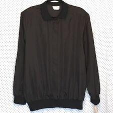 Lauren Lee 20W Blouse Black Solid Button Down Front Long Sleeve Vintage Casual