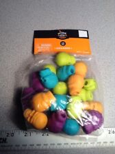HALLOWEEN 24 pc Erasers SKULL SHAPED Pencil Topper Favors Orange Real Purple Lim