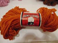 Aunt Lydia's Heavy Rug Yarn 140 yd 320 Burnt Orange vintage FREE 1st Class SH