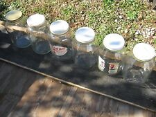 6 pc Vintage Used Clear Glass Empty Bottle One Gallon Pickle jar