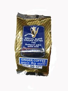 New Ceylon Ginger Coffee Powder High Quality Special Blend Ground Coffee 50g