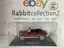 "DIE CAST "" FIAT 1400 CABRIOLET - 1950 "" + TECA RIGIDA BOX 2 SCALA 1/43"