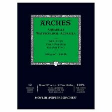 Arches Aquaelle Watercolour Pad ( 20 sheets) 300gsm 18x26cm made in France