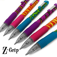 Zebra Z-Grip Funky - Animal Brights Retractable Black Ballpoint Pen - Pack of 6