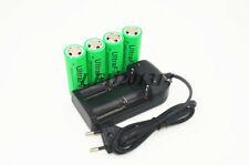 4x UltraFire 26650 3.7V 8000mAh Rechargeable Li-ion Battery+18650/16340 Charger