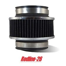 """Black Universal Clamp-On Air Intake Bypass Valve Filter (3.5"""" / 89 mm) Inlet"""