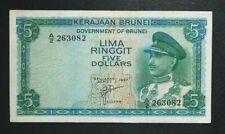 $5 Brunei 1967 note # 90