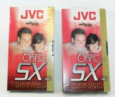 2 JVC Blank VHS Tapes SX Gold 120 New Sealed 6 hrs. ep mode