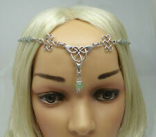 Triquetra & Eternity Knot Circlet - Celtic Inspired Headpiece - Pagan Head Chain