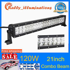 """21"""" 120W CREE LED Work Light Bar Offroad Driving Lamp SUV ATV Boat 4WD Truck 22"""
