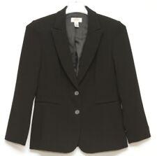 Talbots Womens Black Ribbed Two Button Blazer Size 4