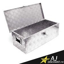Caisse à outils - Coffre en Alu pour remorque camping car 76x32x25 - Aluminium
