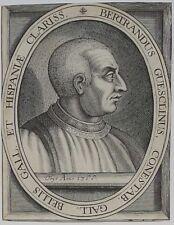 Burin, Portrait Anonyme de Bertrand du Guesclin (1320-1380)