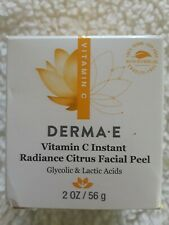 DERMA-E Vitamin C Instant Radiance Citrus Facial Peel with spoon 2oz NEW