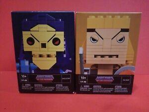Mega Bloks Kubros Masters of the Universe He-Man 139 PCS & Skeletor 165 PCS