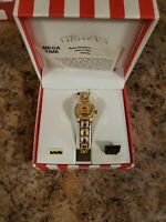 GENEVA ladies watch  iced out bling gold stainless quartz