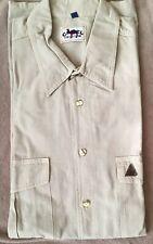 CAMEL COLLECTION - camicia safari - beige / verde - tasche - taglia XL