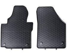 Vw Caddy ab 2003 Premium Gummi-Fußmatten Gummi matten 2tlg schwarz +4x Clips