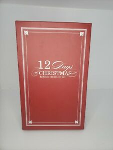 Pottery Barn 12 Days Of Christmas Ornament Set FIRST DAY IS MISSING! NO NUMBER 1