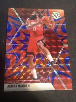 2019-20 JAMES HARDEN PANINI MOSAIC BLUE REACTIVE PRIZM CARD #114 Rockets Nets SP