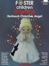 Angelina Heirloom Christmas Angel Soft Sculpture Doll & Clothes Sewing Booklet
