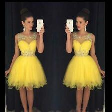 Tulle Party cocktail Short Beaded Formal Graduation Homecoming Prom Gown Dress