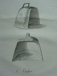 c1755 DATED ANTIQUE PRINT ~ A CURFEW BELL