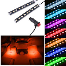 Orange LED Car Interior Accessories Floor Decora Atmosphere Strip Lamp Lights 2x