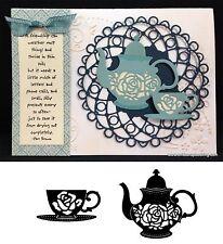 Tea Cup & Rose Tea Pot dies BUNDLE Serendipity craft cutting dies food,drink