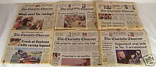CHARLOTTE OBSERVER NEWSPAPER lot DALE EARNHARDT'S DEATH