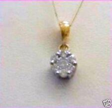 9ct Gold 25PT Diamond Set 1.3g Cluster Pendant RRP £139 BRAND NEW