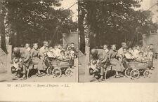 CARTE POSTALE ASIE STEREOSCOPE AU JAPON BONNES D'ENFANTS