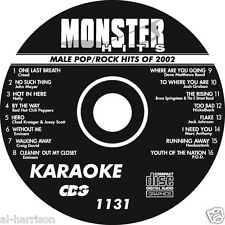 Karaoke Monster Hits Cd+G Male Pop/Rock Hits Of 2002 #1131