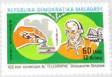 Madagascar MALAGASY 1987 1080 823 cents. Antananarivo tamatave telegraph Link MNH