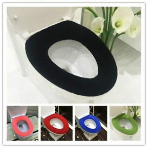 Comfortable Soft Toilet Lid Cover Multicolor Bathroom Thick Washable Seat Cover