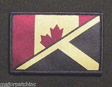 CANADA SCOTLAND MAPLE LEAF SALTIRE FLAG ISAF SUBDUED HOOK & LOOP PATCH